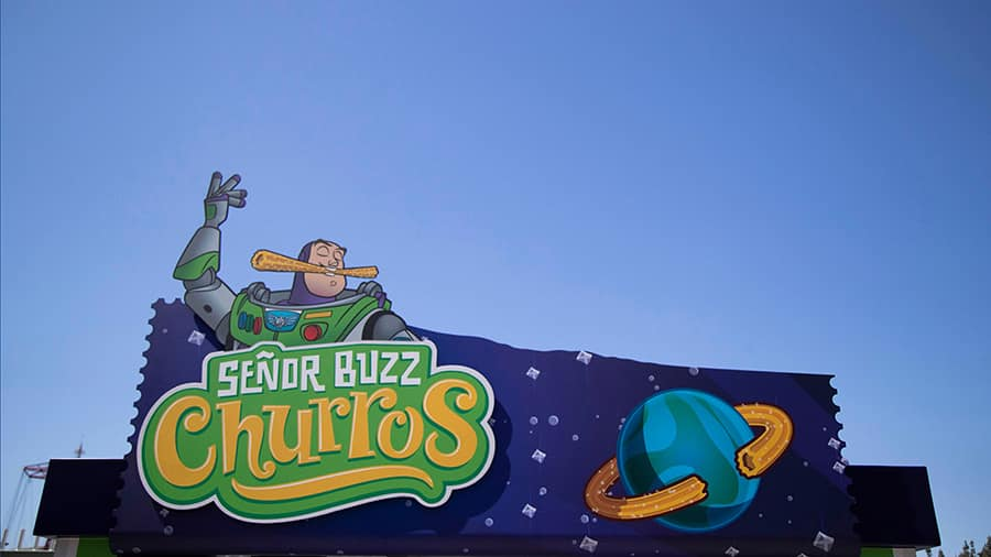 Senor Buzz Churros at Pixar Pier at Disney California Adventure park