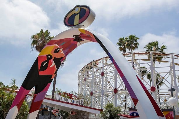 Incredicoaster at Pixar Pier at Disney California Adventure park