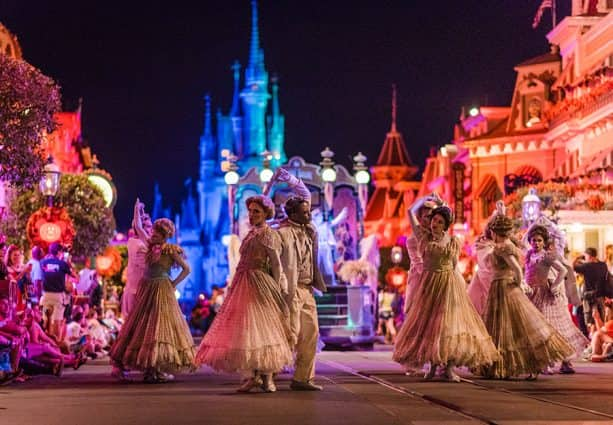 Dancing Ghosts at Mickey's Not-So-Scary Halloween Party
