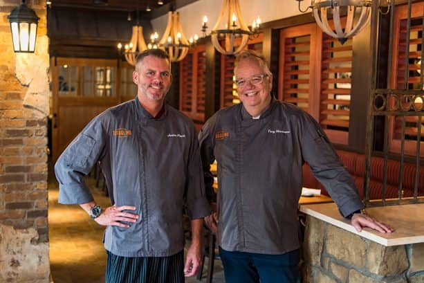 Executive Chef Justin Plank and Chef Tony Mantuano of Terralina Crafted Italian at Disney Springs