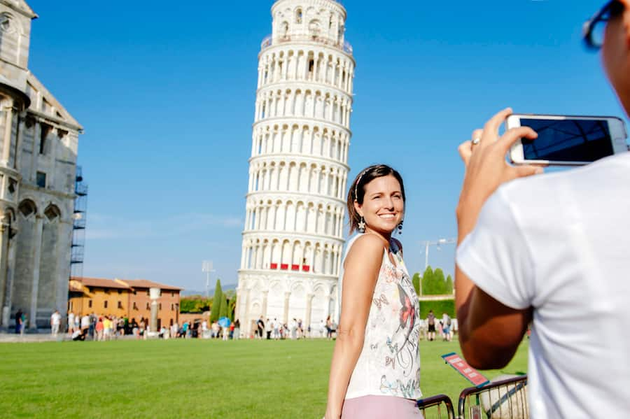 Guests Exploring Italy on a Disney Cruise Line Port Adventure
