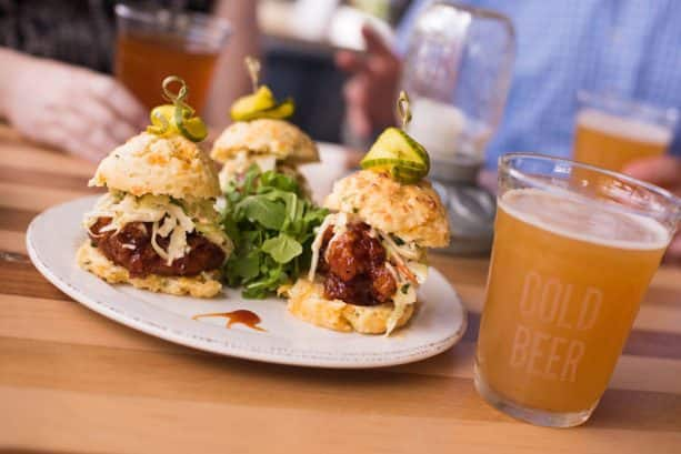 Southern Fried BBQ Chicken Sliders at Chef Art Smith's Homecomin' for Disney Springs Brews and BBQ