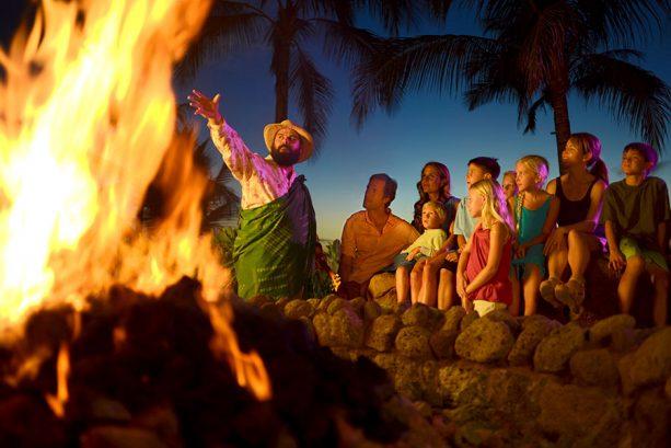Disney Aulani Moʻolelo Fire Pit Storytelling
