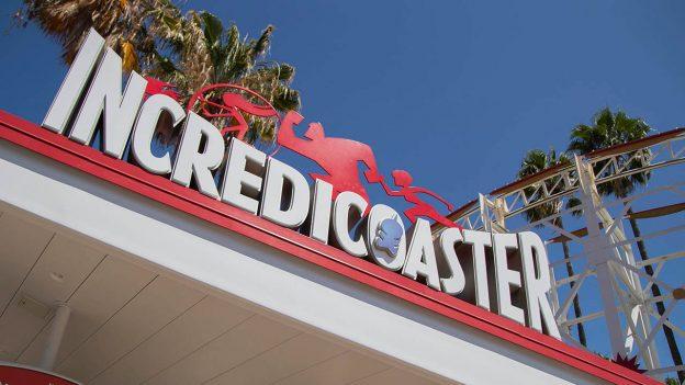 Incredicoaster in Pixar Pier at Disney California Adventure park