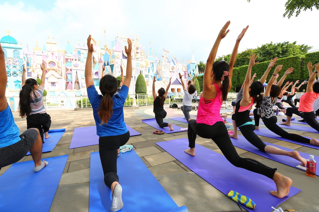 Celebrating International Yoga Day at Hong Kong Disneyland