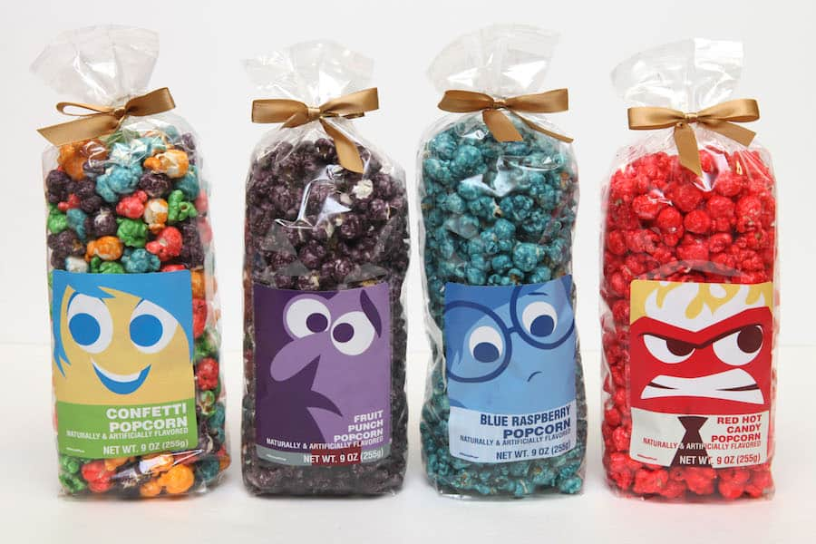Pixar-themed popcorn