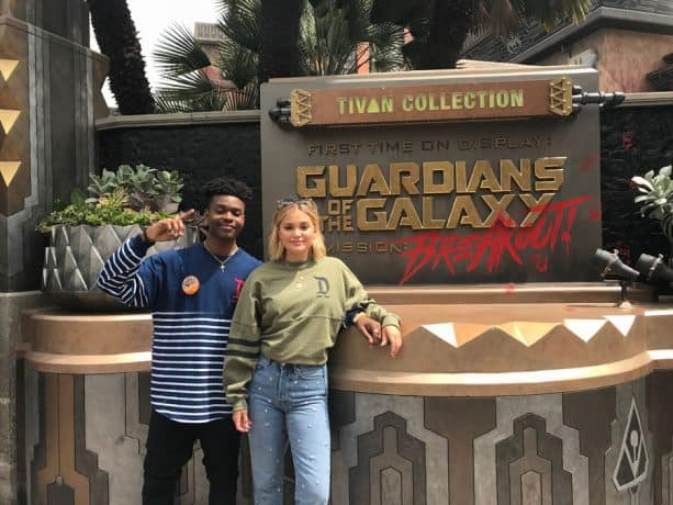 Freeform's 'Marvel's Cloak & Dagger' Stars Olivia Holt and Aubrey Joseph visit Guardians of the Galaxy – Mission: BREAKOUT
