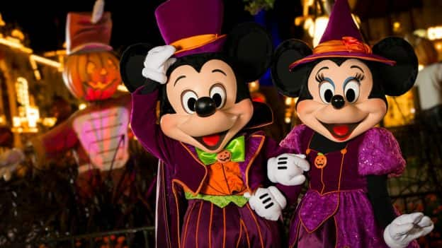 mickey and minnie at mickeys not so scary halloween party at magic kingdom park