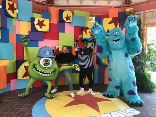 Freeform's 'Marvel's Cloak & Dagger' Stars Olivia Holt and Aubrey Joseph meet Mikey and Sulley from