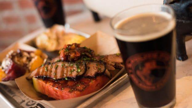 Black Pepper Porter USDA Prime Brisket at The Polite Pig for Disney Springs Brews and BBQ