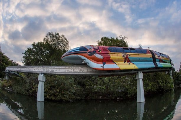 Monorail Orange at Disneyland Resort