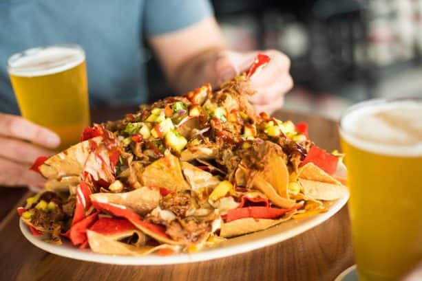 BBQ Pork Nachos at Splitsville Dining Room for Disney Springs Brews and BBQ