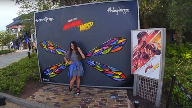 """Ant Man and the Wasp""-inspired wall at Disney Springs"