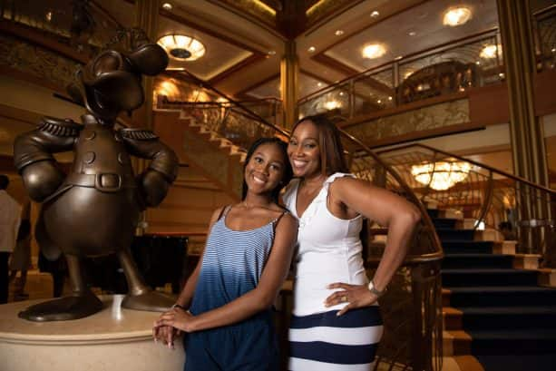 Yolanda Adams and her daughter aboard the Disney Dream