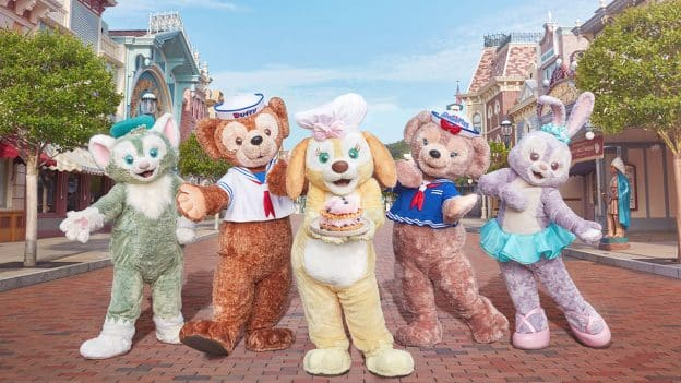 Duffy, Cookie and Friends at Hong Kong Disneyland