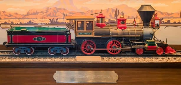 reproduction of Walt's original Carolwood Pacific locomotive