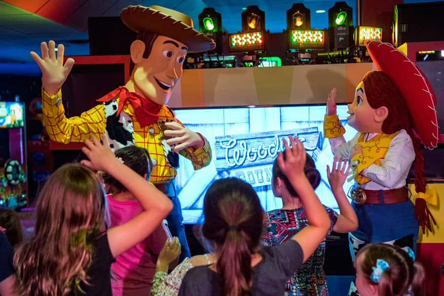Woody and Jessie in Pixar Play Zone at Disney's Contemporary Resort