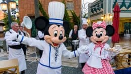 Mickey Mouse and Minnie Mouse at Rendez-Vous Gourmand at Disneyland Paris