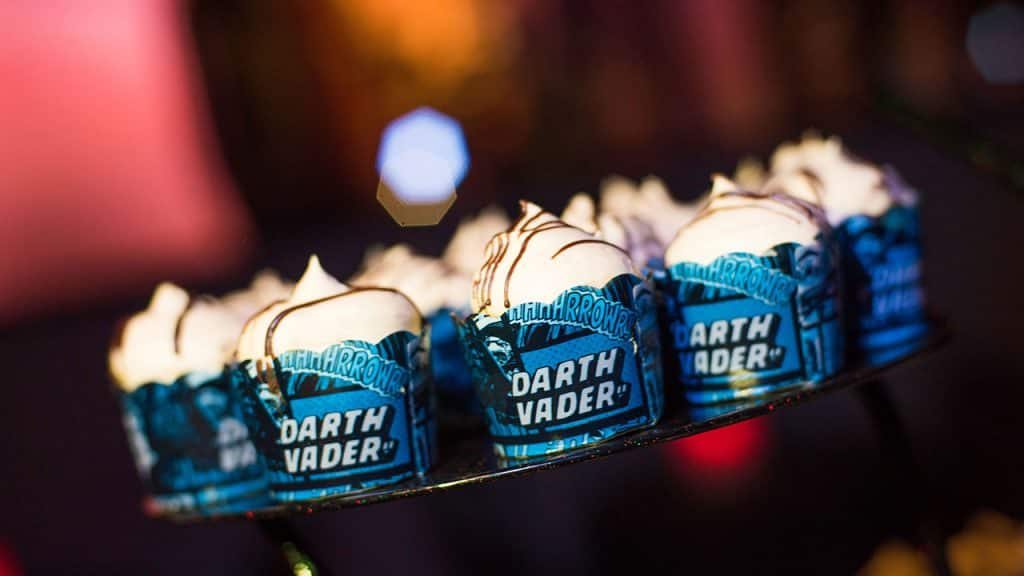 Darth Vader Peanut Butter Cupcakes at Star Wars: A Galactic Spectacular Dessert Party at Disney's Hollywood Studios