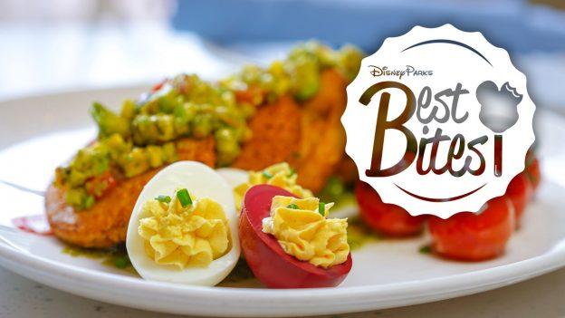 Becky Thatcher's Fried Green Tomato at River Belle Terrace Breakfast at Disneyland Park