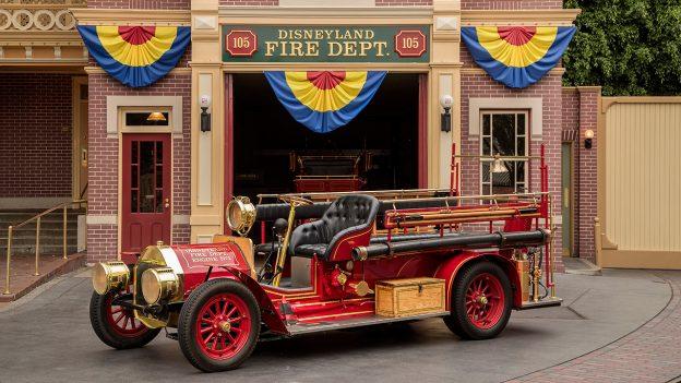 Fire Engine at Disneyland park