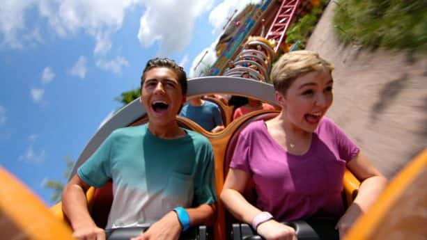 'Disney Channel Original Movie 'Freaky Friday' Star Cozi Zuehlsdorff rides Slinky Dog Dash in Toy Story Land at Disney's Hollywood Studios