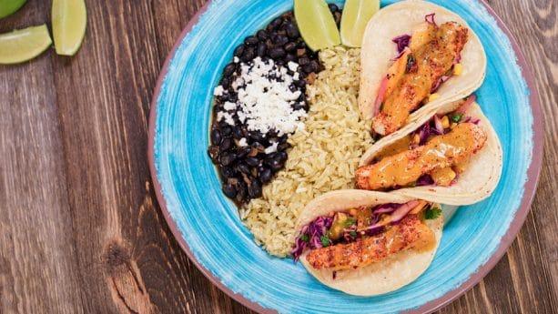 Fish Taco Plate at Cocina Cucamonga Mexican Grill at Disney California Adventure Park