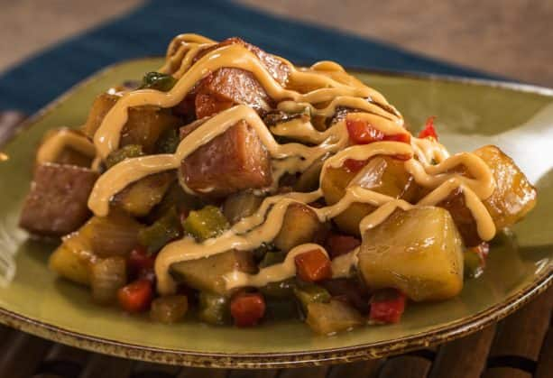 Teriyaki-Galzed Spam Hash at the Hawai'i Marketplace for the Epcot International Food & Wine Festival