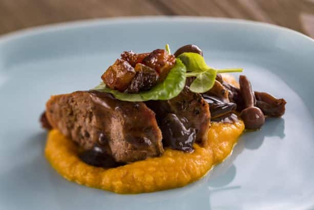 Seared Venison Sausage at the New Zealand Marketplace for the Epcot International Food & Wine Festival