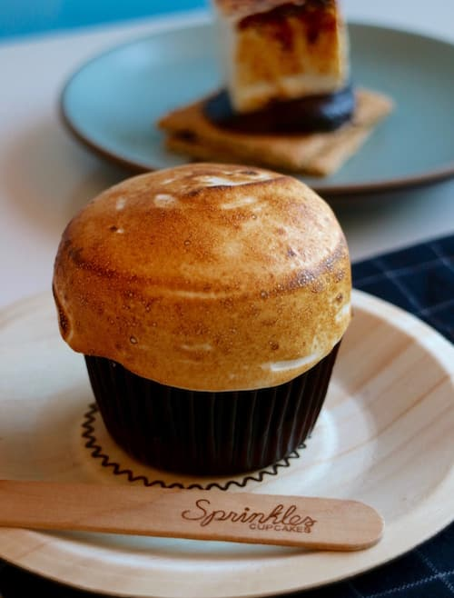 S'more Cupcake from Sprinkles at Disney Springs