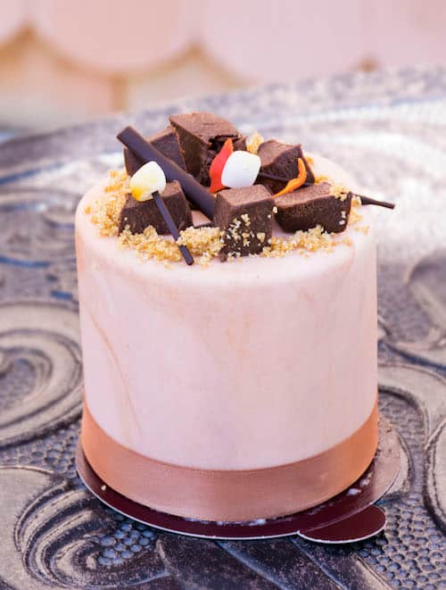 Campfire S'more Petite Cake from Amorette's Patisserie at Disney Springs