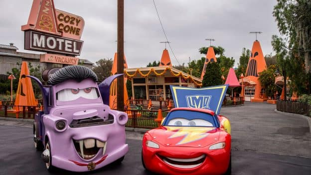 Halloween Time at the Disneyland Resort - Mater and Lightning McQueen