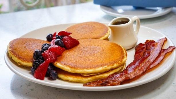 Mickey Pancakes at River Belle Terrace Breakfast at Disneyland Park