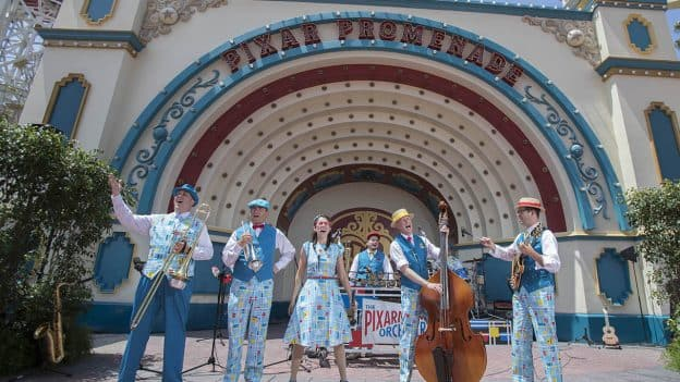 Tour of Pixar Pier at Disney California Adventure Park: Pixar Promenade