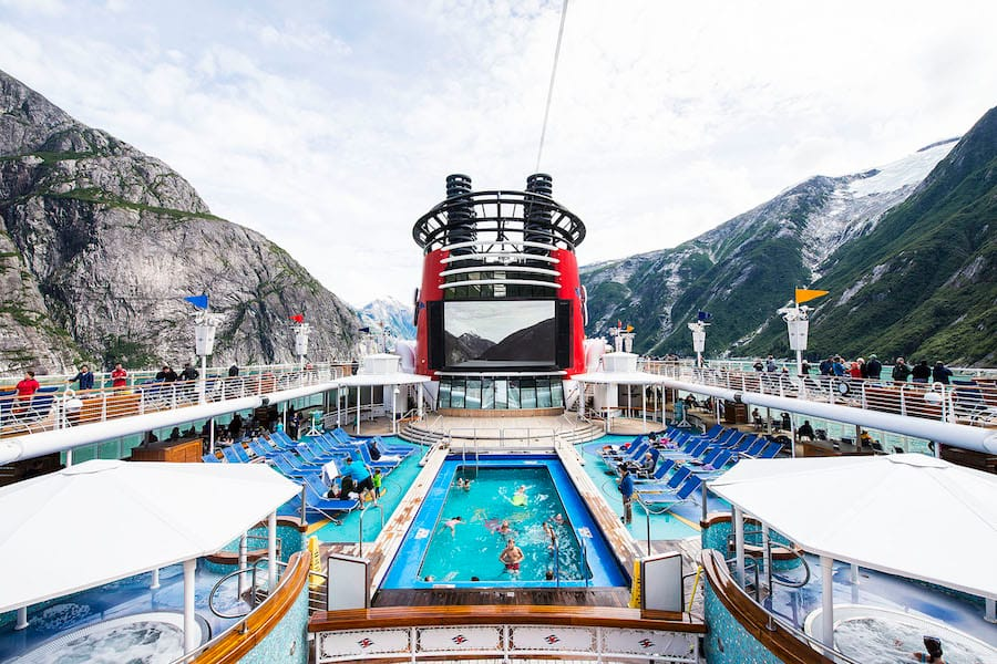 Pool on the Disney Wonder in Alaska