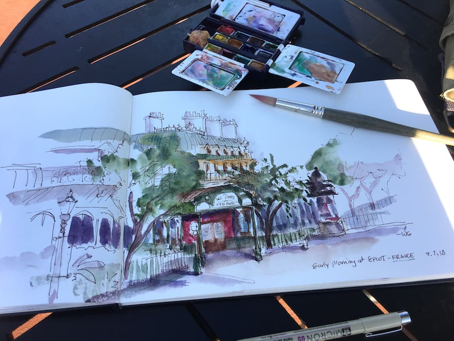 Watercolor Sketch by Disney Artist Will Gay
