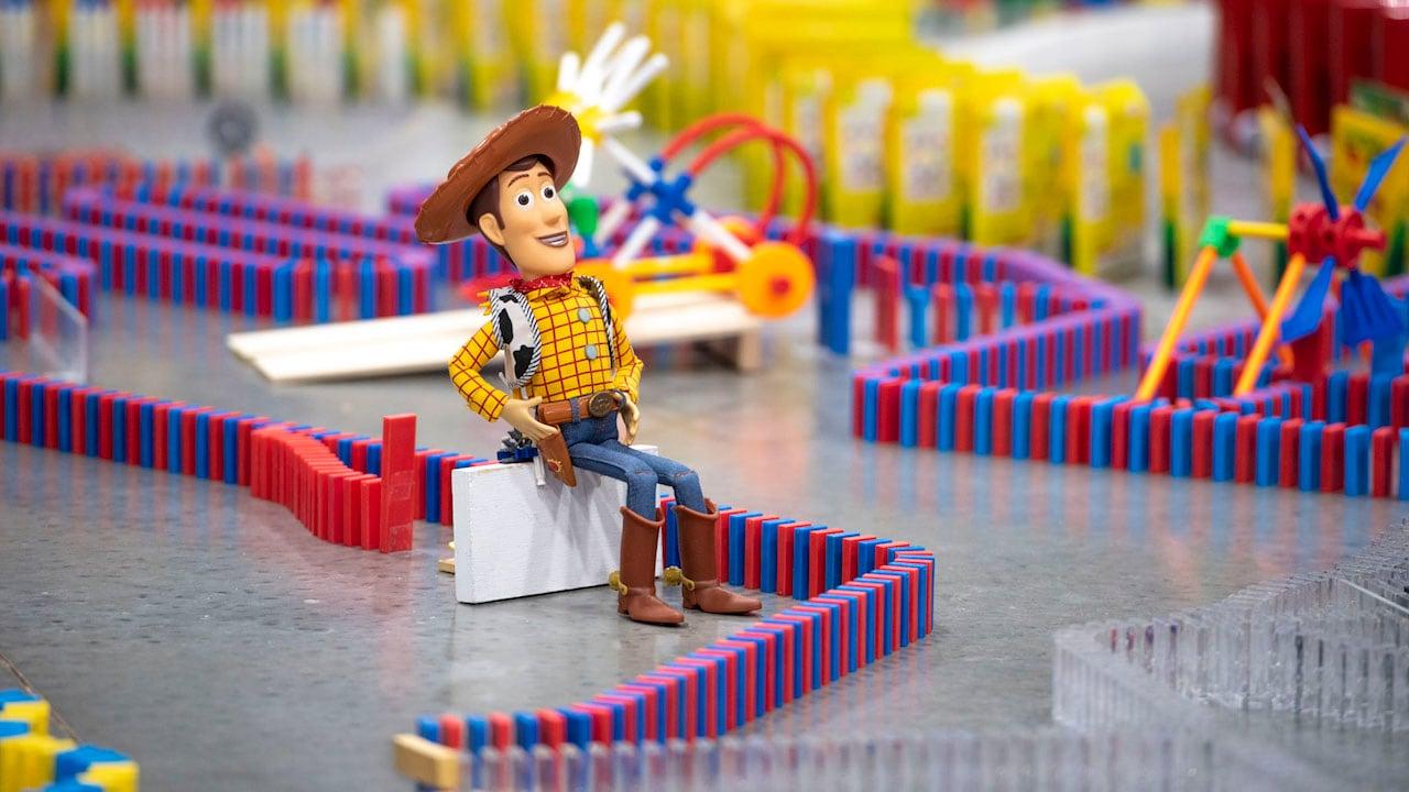 Spectacular 32,000-Piece Domino Maze Celebrates Disney's Toy Story Land