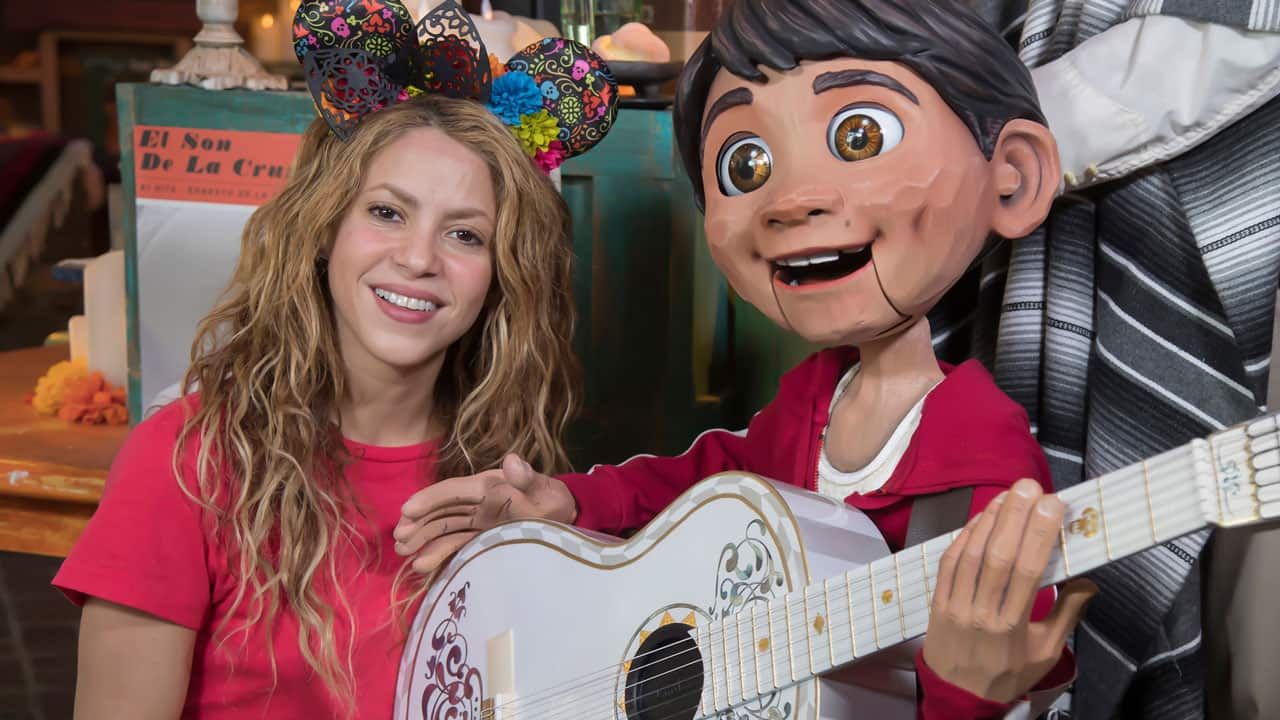 Shakira and Miguel at Disney California Adventure Park