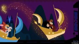 Disney Doodle: Tinker Bell Spreads Pixie Dust at Peter Pan's Flight
