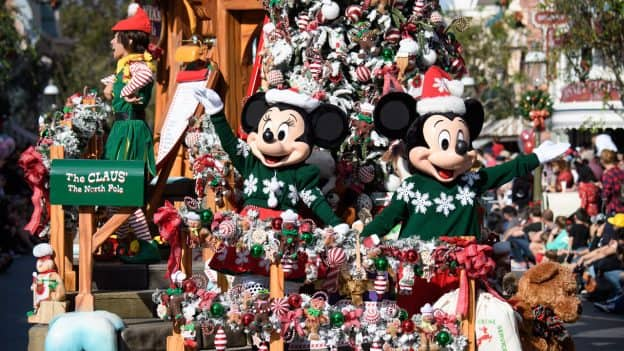 "A Christmas Fantasy"" Parade at Disneyland park"