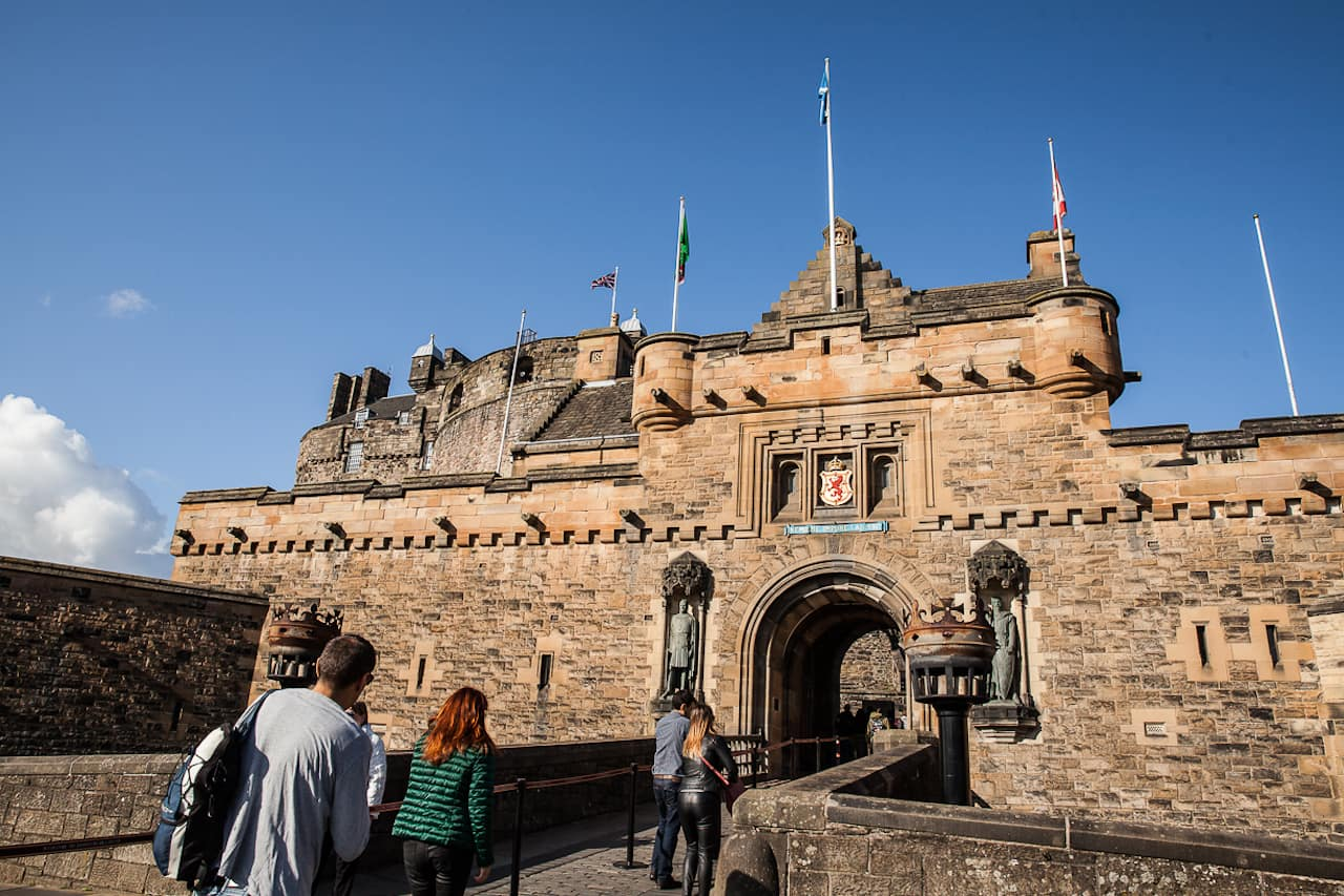 Disney Cruise Line Guests Exploring Edinburgh Castle