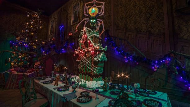 Haunted Mansion Holiday Gingerbread House at Disneyland Park