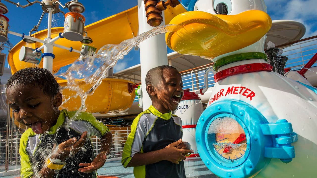 The AquaLab water playground on the Disney Magic