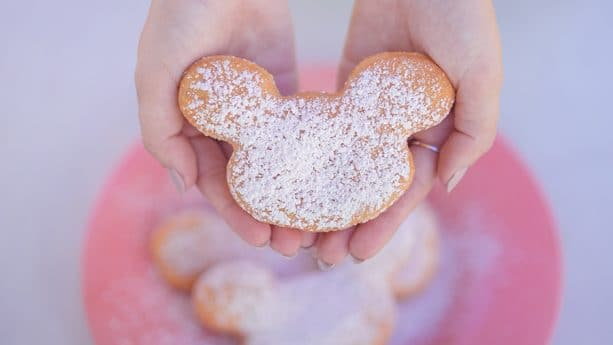 Pumpkin Spice Mickey Beignets from the Mint Julep Bar in New Orleans Square