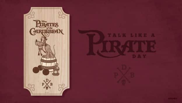 Disney Parks Blog Talk Like A Pirate Day Poster