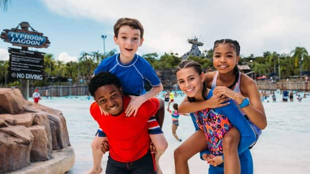 "Stars of Disney Channel's ""Raven's Home"" at Disney's Typhoon Lagoon Water Park"