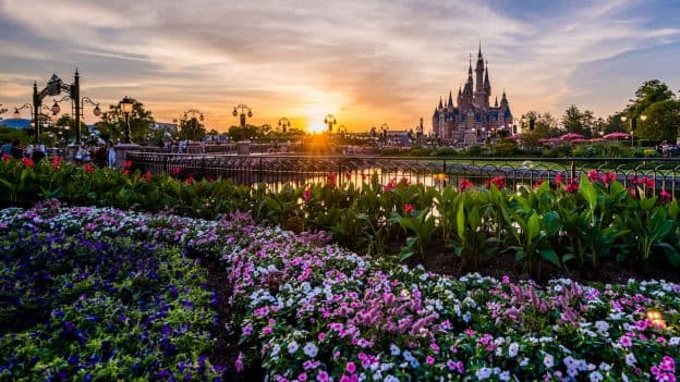 The Sun Sets at Shanghai Disneyland