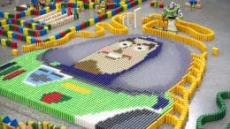 32,000-Piece Domino Maze Celebrates Disney's Toy Story Land