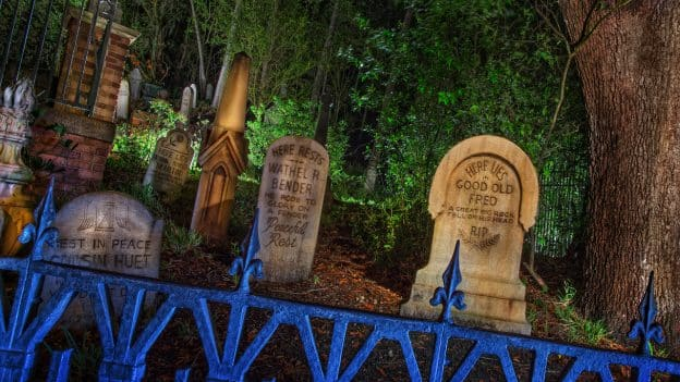 Haunted Mansion's Tombstones