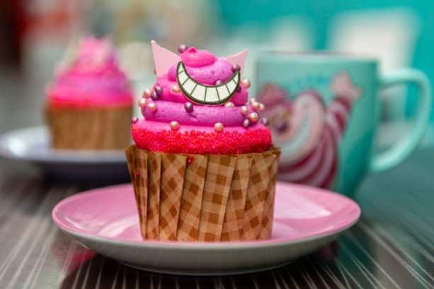 Cheshire Cat Cupcake at Intermission Food Court at Disney's All-Star Music Resort